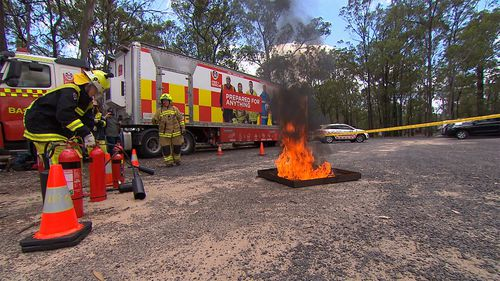 The program is aimed at teaching teen girls what it takes to be a firefighter.