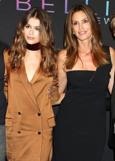Kaia Gerber and Cindy Crawford at Maybelline New York Celebrates NYFW on September 8, 2016 in New York.