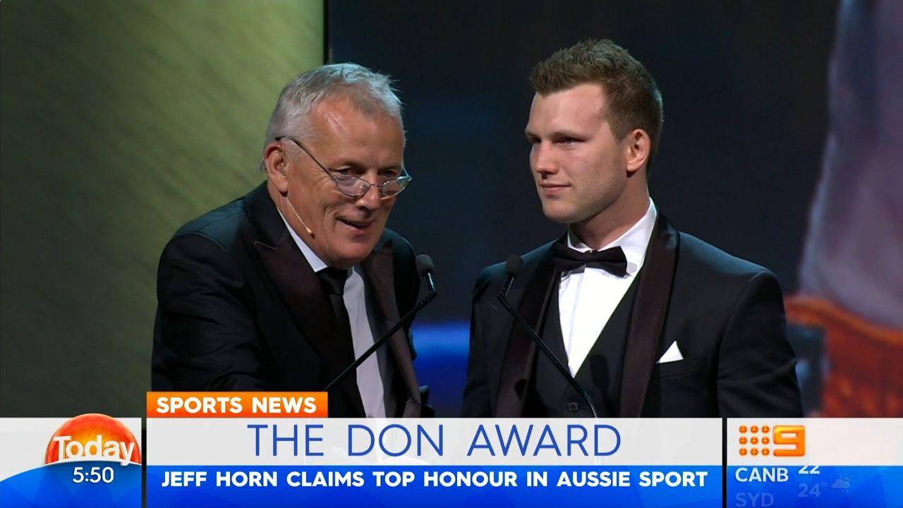 Horn wins Don Award