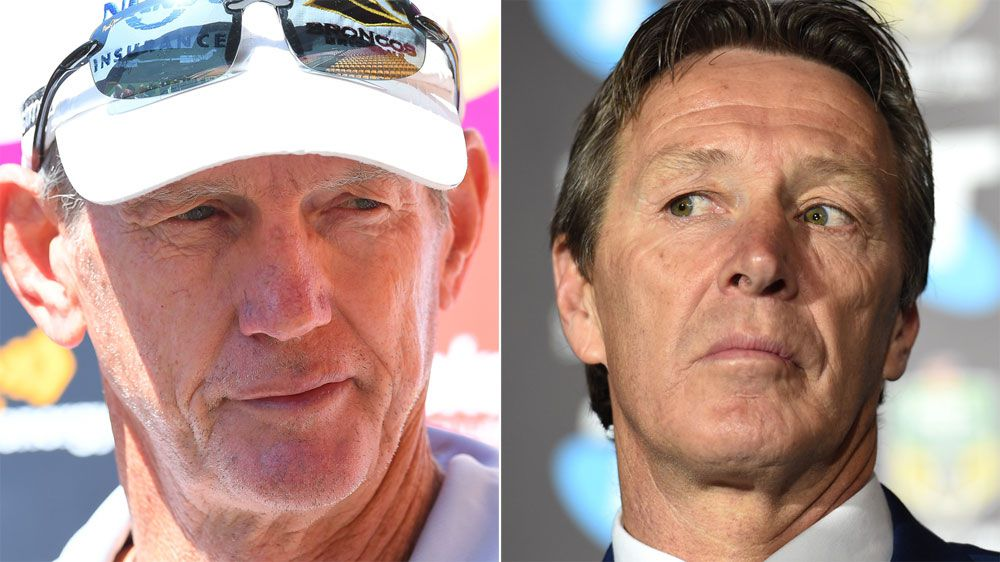 NRL news: Brisbane Broncos coach Wayne Bennett and Storm's Craig Bellamy Bellamy in party patch up
