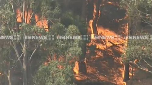 The fire is burning towards Lancefield. (9NEWS)