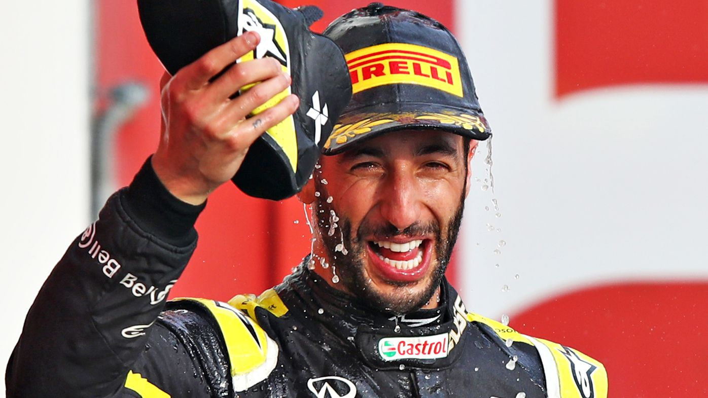 Daniel Ricciardo of Australia and Renault