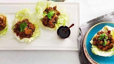 """<a href=""""http://kitchen.nine.com.au/2016/05/16/19/43/quail-lettuce-delight"""" target=""""_top"""">Quail lettuce delight</a> recipe"""