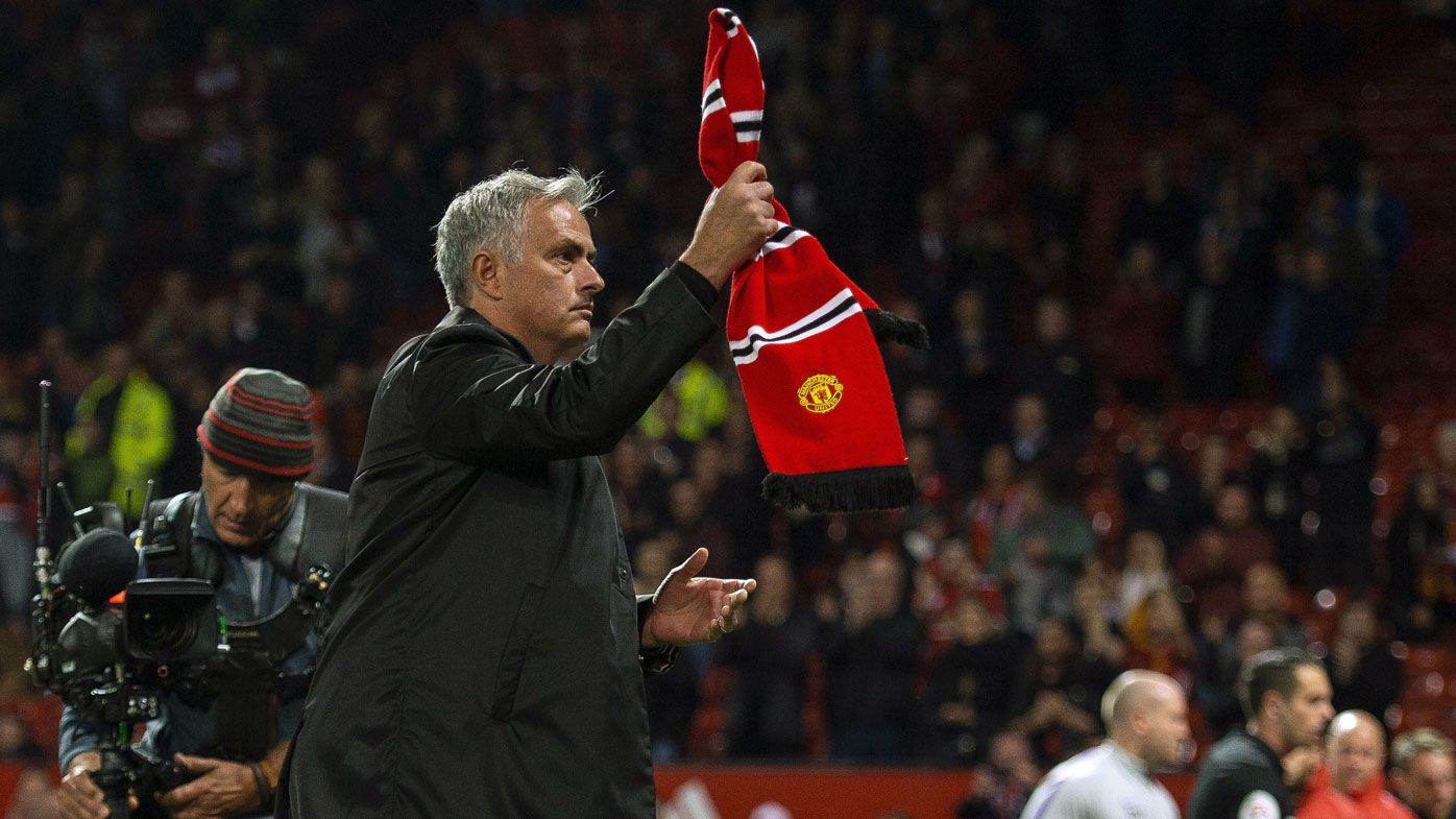 Manchester United fans taunt manager Jose Mourinho with 'you're getting sacked' chant