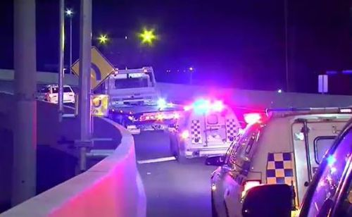 The 32-year-old Highett man died in the crash after being flung over the Bolte Bridge. Picture: 9NEWS