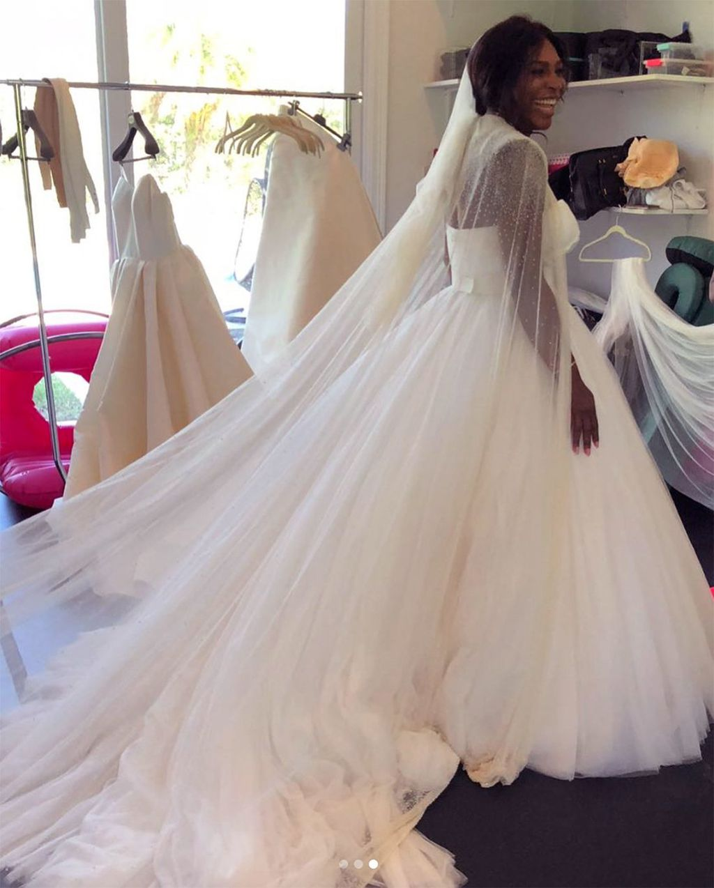 Fronting For February March Edition Of The Magazine 36 Year Old Has Shown Just What Went Into Creating Dreamy Gown That Featured A Voluminous Tulle