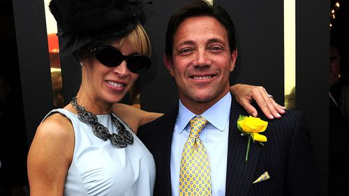 Jordan Belfort, author of The Wolf of Wall Street at the Melbourne Cup.