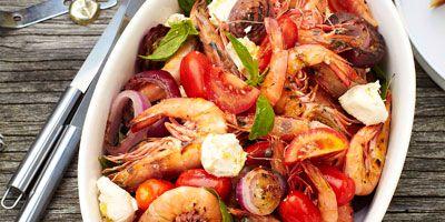 Prawn Caprese salad