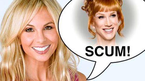"View host Elisabeth Hasselbeck calls Kathy Griffin ""scum"", Kathy loves it"