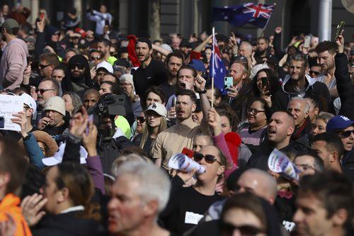 Melbourne lockdown protests