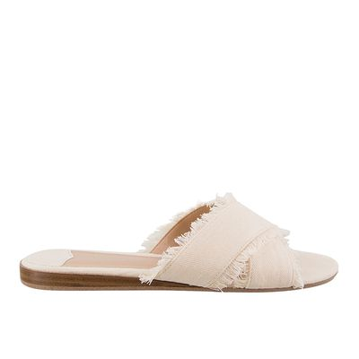 "<p><a href=""http://www.tonybianco.com.au/jacques-cream-amalfi.html"" target=""_blank"" draggable=""false"">Tony Bianco Jacques Amalfi Slides in Cream, $119.95</a></p>"