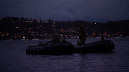 The residents on Sydney's Pittwater would have no idea of the training taking place on their doorstep. (9NEWS)