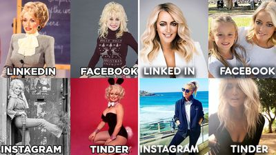 Celebs do Instagram vs LinkedIn vs Facebook vs Tinder challenge