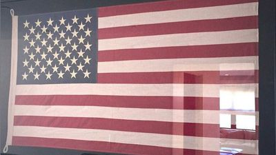 "Caitlyn Jenner celebrated the day by sharing a picture of the American flag on Instagram with the caption ""Happy 4th of July! Proud to be American... where at least I am free to be me."" (Instagram)"