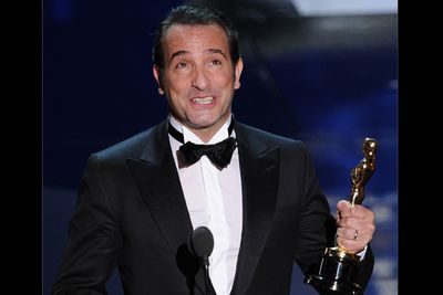 Deserve to win? Annihilating Clooney and Pitt in his path, Dujardin is a pretty awesome winner, providing he shares the award with The Artist dog Uggie.<br/><br/>Watch his hilariously O.T.T. speech:<br/>