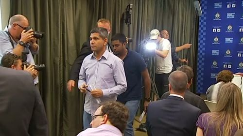 Mr Kumar and Mr Shetty spoke briefly, both appealing for the killer to come forward. (9NEWS)
