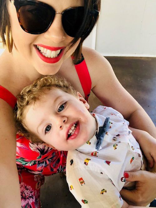 Kate Upton with son Arlo.
