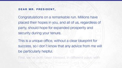 Barack Obama's letter to Donald Trump