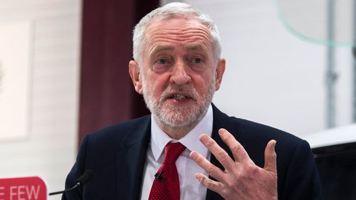 The Opposition Labour leader Jeremy Corbyn says the UK should stay in the EU's customs union, meaning a trade deal with Australia would not be possible. (AAP)
