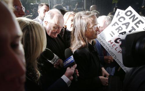 Adelaide Archbishop Philip Wilson, 67, was  sentenced today for concealing child sex crimes. (AAP)