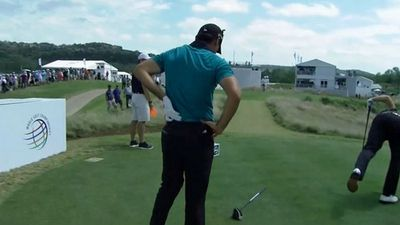 The Aussie was clearly in discomfort. He immediately dropped his driver, with initial reports suggesting he was suffering nerve pain.