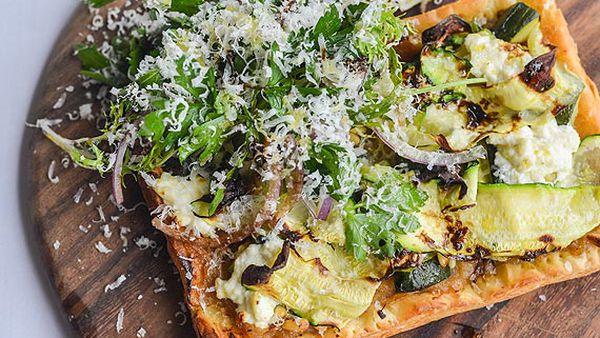 Le Pub's ricotta and zucchini tart