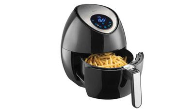 "<p>We all want dad to have his chips and eat them too, so an air fryer will help cut down the calories wihtout cutting out the chips... lucky dad.</p> <p>-&nbsp;<a href=""https://www.target.com.au/p/bellini-air-fryer-btdf95/P56348620"" target=""_top"">Bellini Air Fryer</a>, $99 from Target</p>"