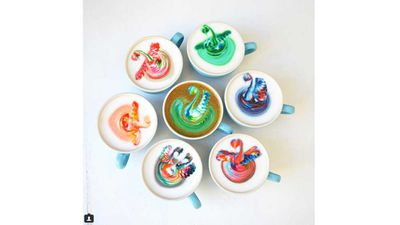 13. The rainbow coffee