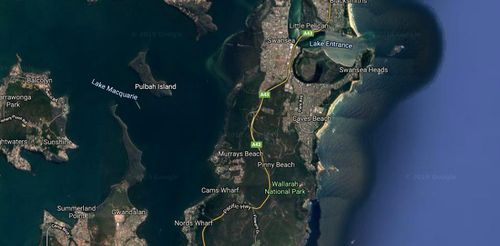 The early stages of the investigation suggest the man swam at the unpatrolled northern end of Caves Beach on Tuesday.