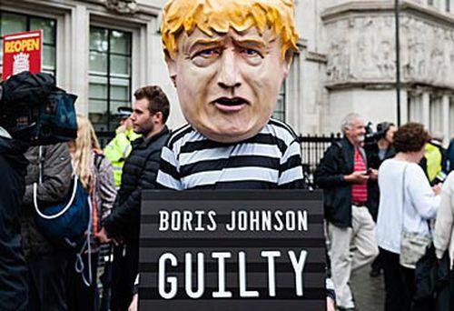Effigy costume of Boris Johnson (Getty)