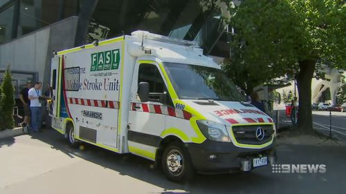 There's a push to have 'stroke' ambulances rolled out Australia wide. Picture: 9NEWS
