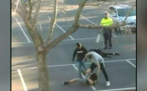 The teens were approached by the group of men after trying to start a fight at Broadmeadows train station.
