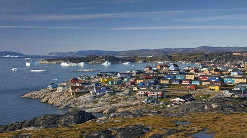 The town of Ilulissat / Jakobshavn, Disko-Bay, Greenland.