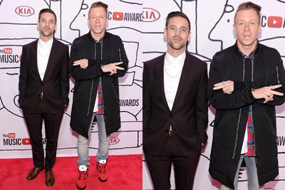 Left: Ryan Lewis, right: Macklemore. Hotness comes in pairs, obviously.