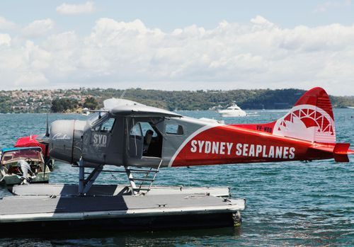 This is the Sydney Seaplanes aircraft that has crashed into Jerusalem Bay. (Supplied)