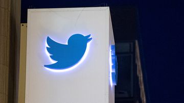 A sign at Twitter's headquarters in San Francisco, California. (AFP)