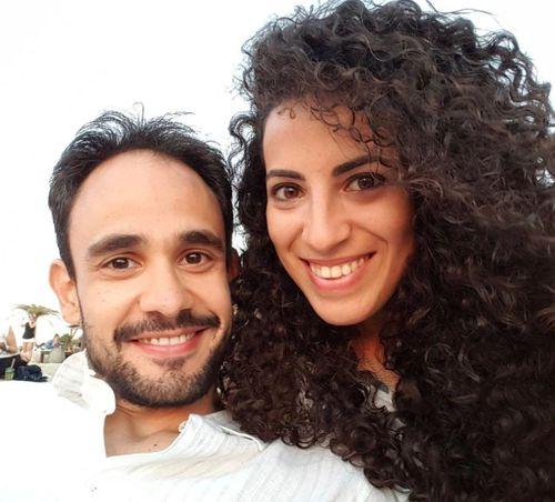An undated Facebook photo of Alberto Fanfani, 32, left, and Marta Danisi, 29,.
