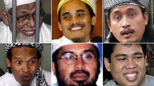 Faces of terror: Some of those responsible for the 2002 Bali Bombings.