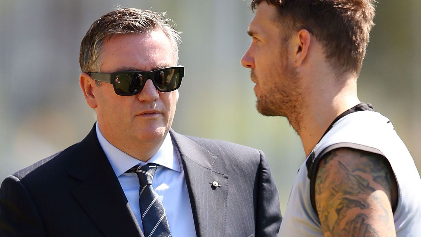 Eddie McGuire and Dane Swan