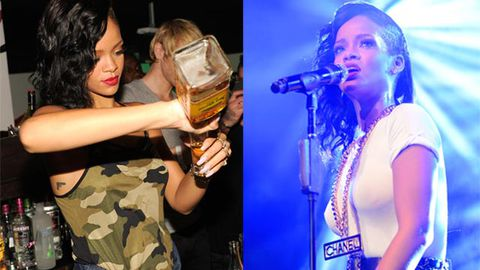 Rihanna throws crazy party, wears see-through top and bartends on world tour - we were there!