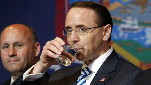 Deputy Attorney-General Rod Rosenstein. (AAP)