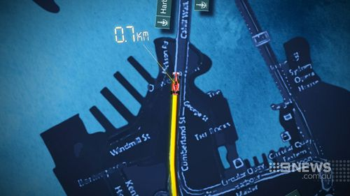 The proposed track races across the Sydney Harbour Bridge before looping back into the city. (9NEWS)