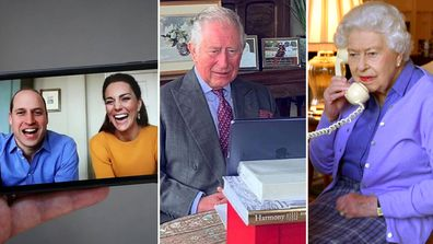 Prince William and Kate Middleton, Prince Charles, Queen Elizabeth remote royals