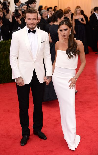 <p>Power dressing</p> <p>David and Victoria glowed with their sleek, all-white  minimalist outfits  at the 2014 Costume Institute Gala in New York.</p> <p>&nbsp;</p> <p> </p>