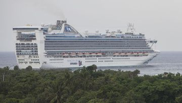 """The Caribbean Princess, carrying more than 4000 people was denied entry to Trinidad and Tobago because of the """"significant outbreak"""" of gastro."""