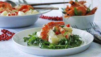 "<a href=""http://kitchen.nine.com.au/2016/05/05/14/11/festive-tiger-prawn-and-potato-salad"" target=""_top"">Festive tiger prawn and potato salad</a>"