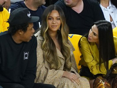 Jay-Z, Beyoncé and Nicole Curran