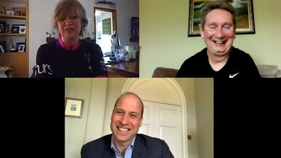 Prince William Scottish Charities video calls (EMBARGO 7:30am 21/5) Cor Hutton, Founder of Finding Your Feet and Stephen, one of the charity's beneficiaries