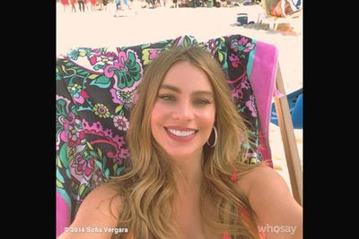 @sofiavergara: Beach day<br/><br/>Image: Snapper/WhoSay/Sofia Vergara