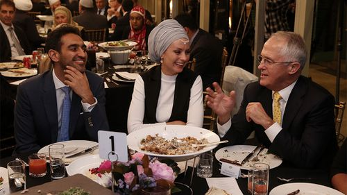 PM Malcolm Turnbull hosts evening feast for Muslim leaders as they break daily Ramadan fast